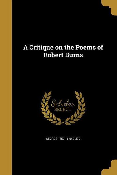 CRITIQUE ON THE POEMS OF ROBER