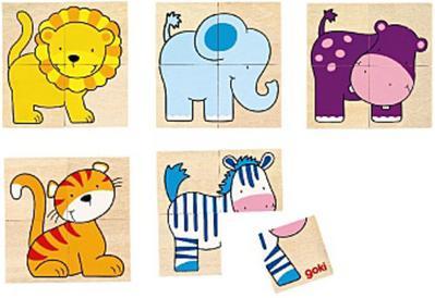 Goki 56714 - Karemo- und Memospiel - Wilde Tiere