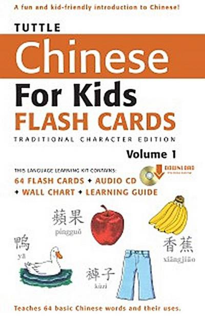 Tuttle Chinese for Kids Flash Cards Kit Vol 1 Traditional Ch
