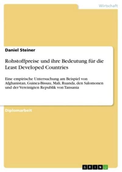 Rohstoffpreise und ihre Bedeutung für die Least Developed Countries