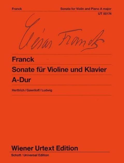 Sonate für Violine und Klavier A-Dur Ernst Herttrich