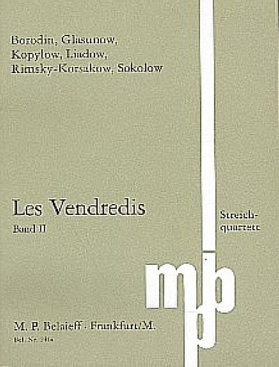 Les Vendredis Band 2 fürStreichquartett