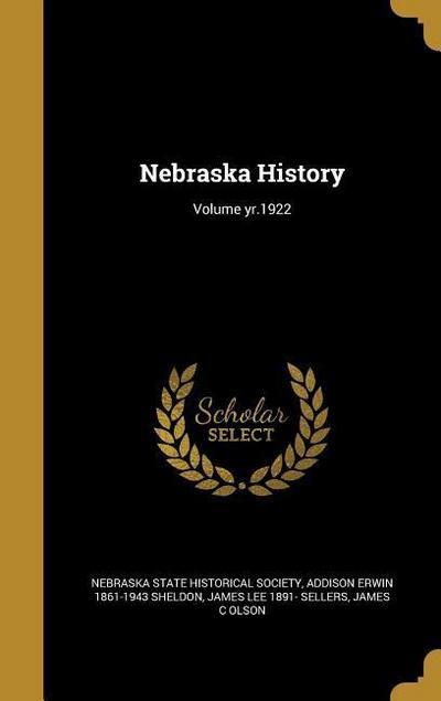 NEBRASKA HIST VOLUME YR1922