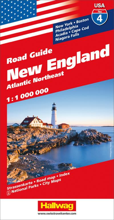 Hallwag USA Road Guide 04 New England 1 : 1.000.000