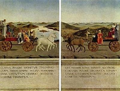 Piero della Francesca - Triumphzug des Herzogspaares di Montefeltro und seiner Gemahlin - 200 Teile (Puzzle)