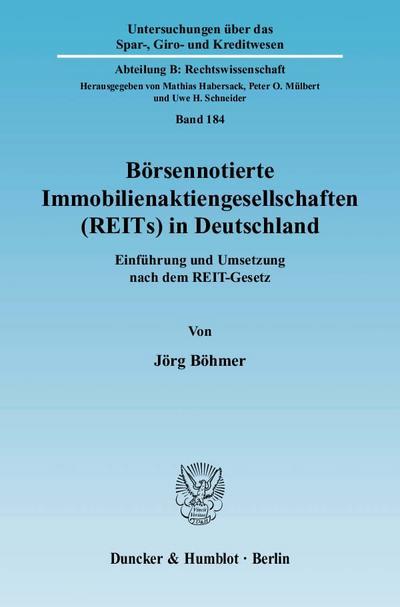 Börsennotierte Immobilienaktiengesellschaften (REITs) in Deutschland