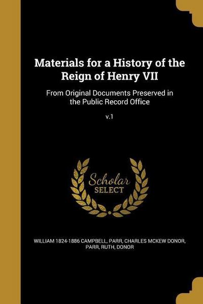 MATERIALS FOR A HIST OF THE RE