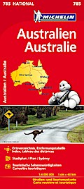 Michelin Nationalkarte Australien 1 : 4 000 000