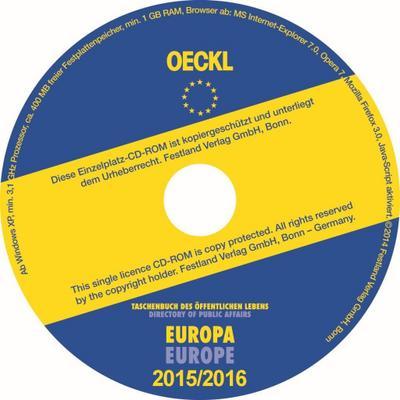 Oeckl Taschenbuch des Öffentlichen Lebens Europa 2015/2016, CD-ROM; Directory of Public Affairs Europe and International Deutsch / Englisch