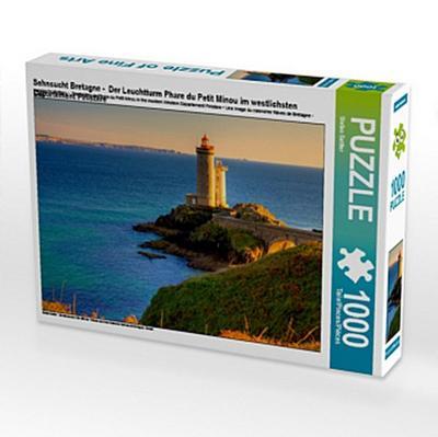 Sehnsucht Bretagne - Der Leuchtturm Phare du Petit Minou im westlichsten Département Finistére (Puzzle)