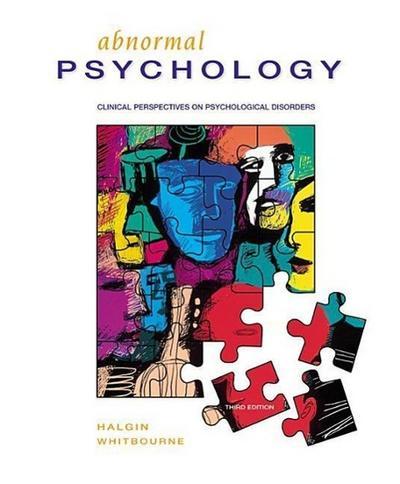 Halgin Abnormal Psychology and Mindmap CD ROM