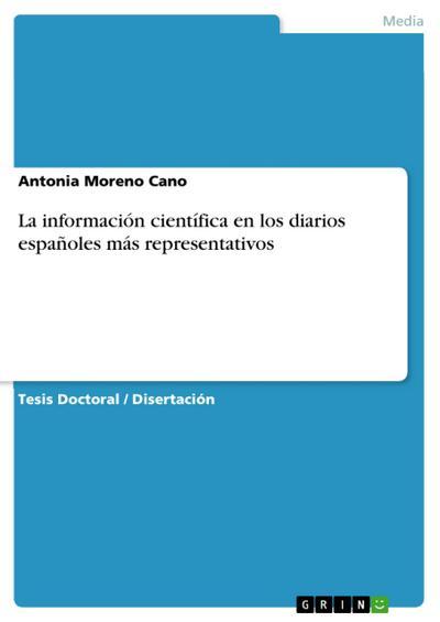 La información científica en los diarios españoles más representativos