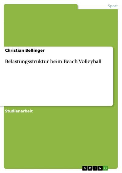 Belastungsstruktur beim Beach Volleyball