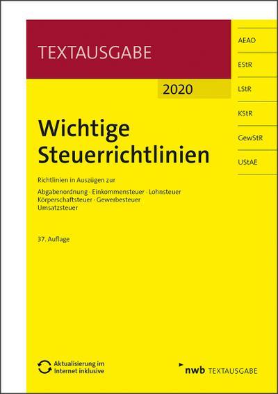 Wichtige Steuerrichtlinien 2020