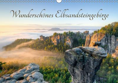 Wunderschönes Elbsandsteingebirge (Wandkalender 2019 DIN A3 quer)