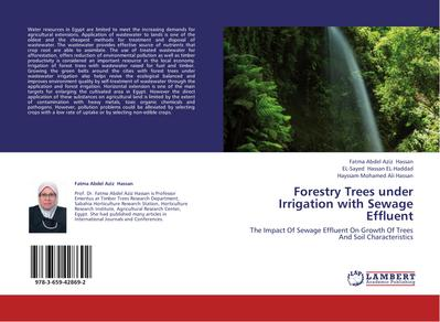Forestry Trees under Irrigation with Sewage Effluent
