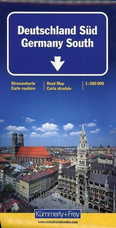 Kümmerly+Frey Karte Deutschland Süd Strassenkarte. Germany South