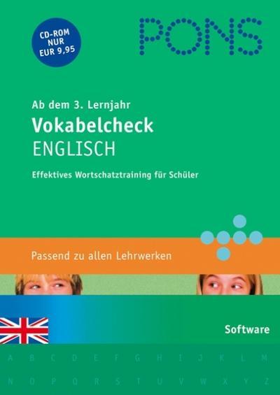 PONS Vokabelcheck Englisch ab dem 3. Lernjahr