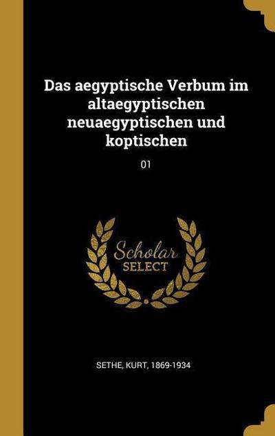 Das Aegyptische Verbum Im Altaegyptischen Neuaegyptischen Und Koptischen: 01