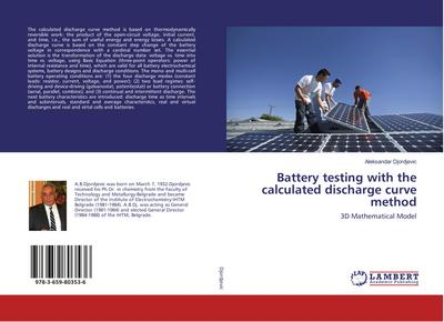 Battery testing with the calculated discharge curve method