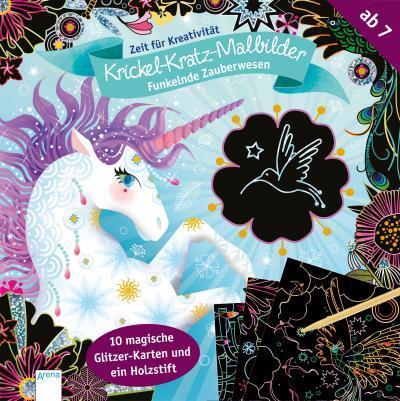 Funkelnde Zauberwesen. Krickel-Kratz-Malbilder; Zeit für Kreativität:; Ill. v. Boisson, Marie-Rose; Deutsch