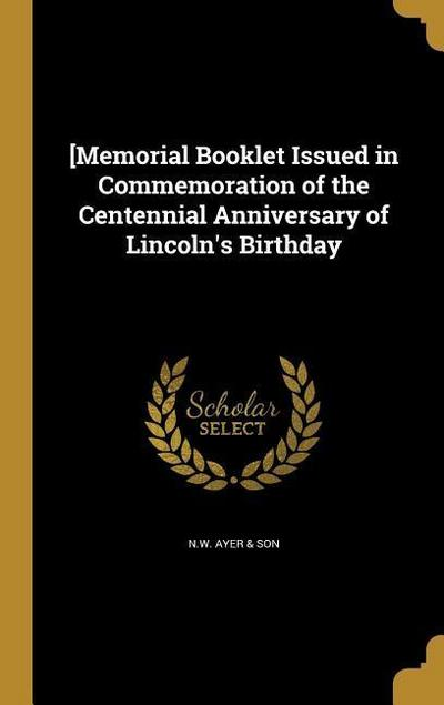 MEMORIAL BOOKLET ISSUED IN COM