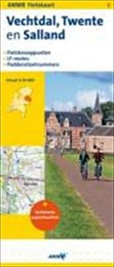 Topografische Fietskaart 6 Vechtdal, Twente en Salland 1 : 75 000