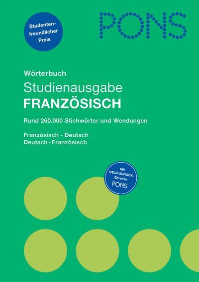PONS Wörterbuch Studienausgabe Französisch
