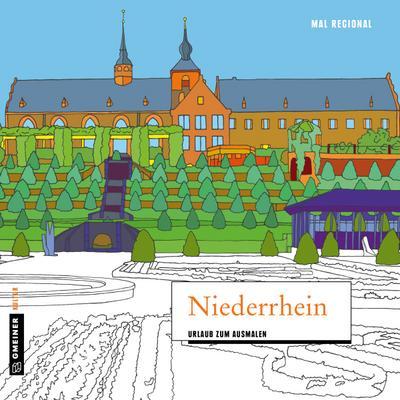 MAL REGIONAL - Niederrhein; Urlaub zum Ausmalen; MALRegional im GMEINER-Verlag; Deutsch; 21x21 cm