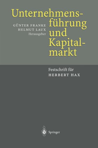 Unternehmensführung und Kapitalmarkt