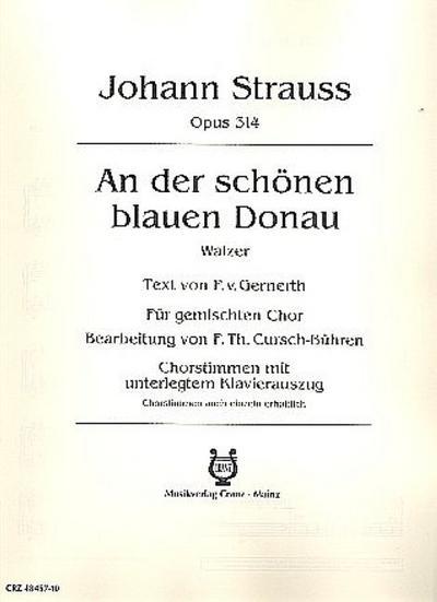 An der schönen blauen Donau, gemischter Chor (SATB) und Klavier, Klavierpartitur