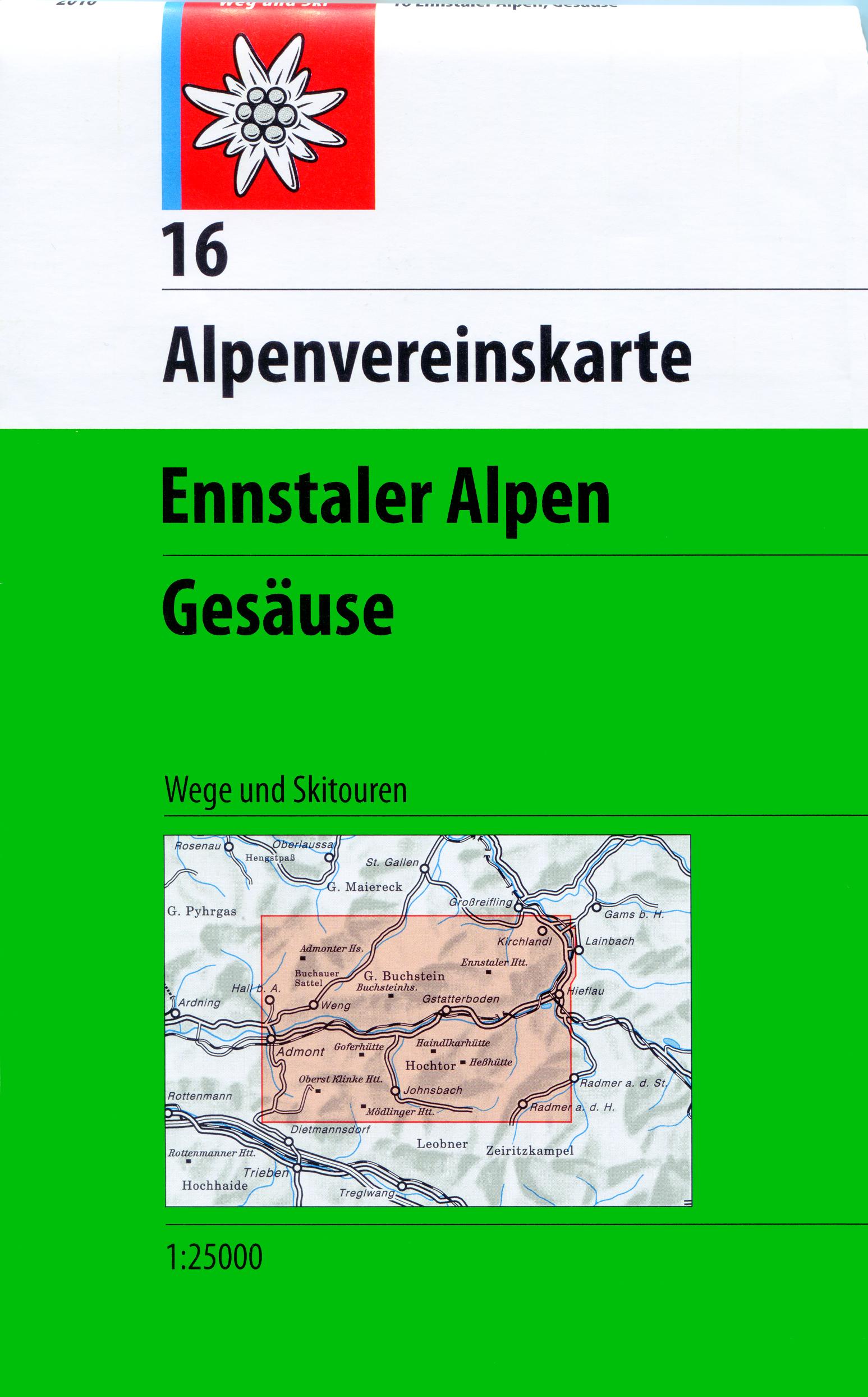 DAV Alpenvereinskarte 16 Ennstaler Alpen - Gesäuse 1 : 25 000,