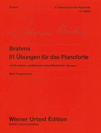 51 Übungen für das Pianoforte WoO 6, Klavier - Johannes Brahms