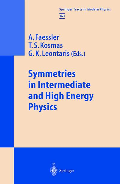 Symmetries in Intermediate and High Energy Physics: Festschrift for Professor J.D. Vergados (Springer Tracts in Modern Physics)
