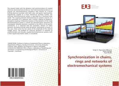 Synchronization in chains, rings and networks of electromechanical systems