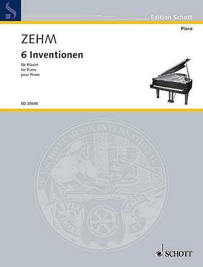 6 Inventionen: Klavier. (Edition Schott)