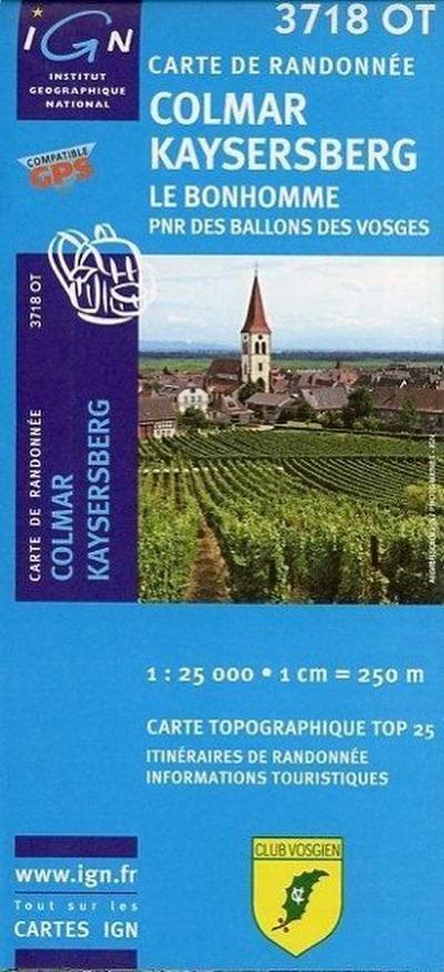 Colmar Kaysersberg 1 : 25 000