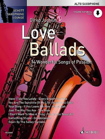 Love Ballads. Alt-Saxophon. Ausgabe mit CD