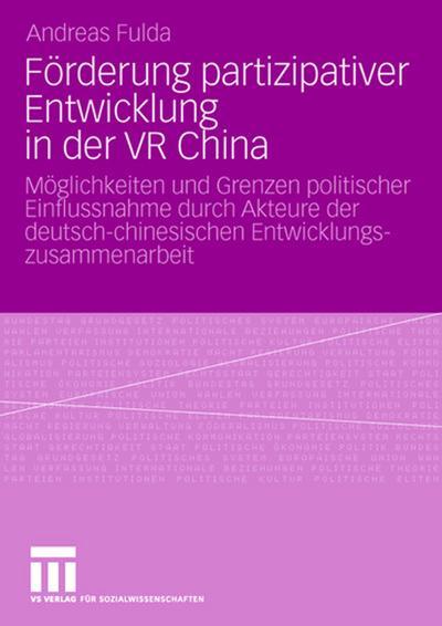Förderung partizipativer Entwicklung in der VR China