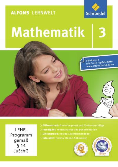 Alfons Lernwelt Lernsoftware Mathematik 3. DVD-ROM