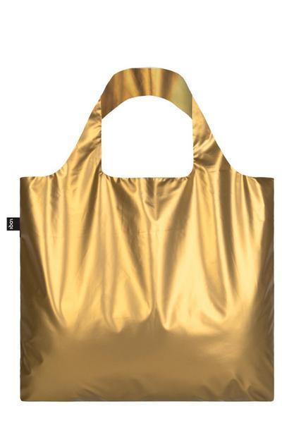 METALLIC, Matt Gold. Bag: LOQI BAG: Ich wiege 55 g. Ich kann 20 kg tragen. Ich bin wasserabweisend. Ich bin aus Polyester - LOQI Gmbh - Zubehör, Deutsch, , ,