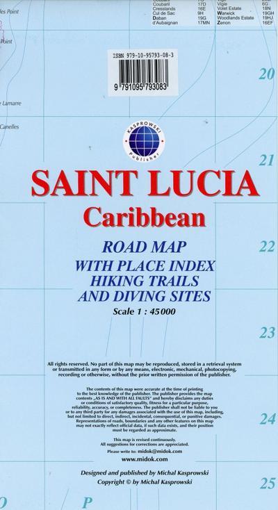 Saint Lucia - Caribbean  1 : 45.000