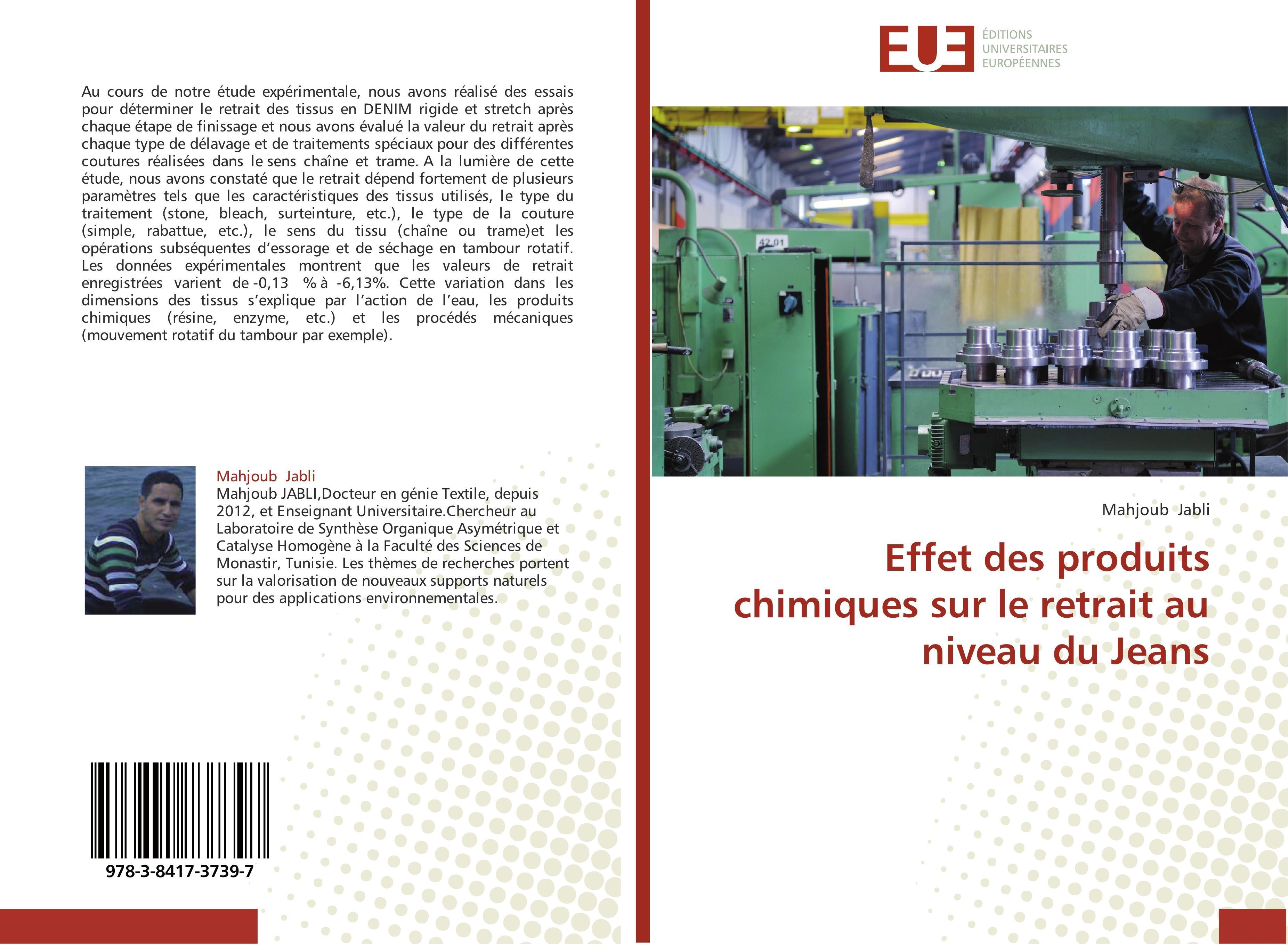Effet des produits chimiques sur le retrait au niveau du Jea ... 9783841737397