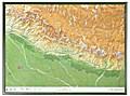 Nepal Gross 1:1.150.000 mit Holzrahmen