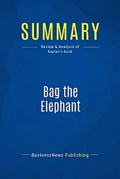 Summary: Bag the Elephant
