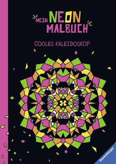 Mein Neon-Malbuch: Cooles Kaleidoskop; Ill. v. Steingräber, Mia; Deutsch; durchg. schw.-w. Ill.; Achtung. Nicht für Kinder unter 36 Monaten geeignet. Erstickungsgefahr wegen verschluckbarer Kleinteile.