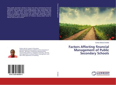 Factors Affecting financial Management of Public Secondary Schools