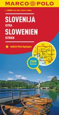 MARCO POLO Länderkarte Slowenien, Istrien 1:3 ...
