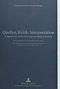 Quellen, Kritik, Interpretation