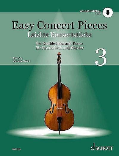 Easy Concert Pieces Band 3 - Leichte Konzertstücke (+Online Audio)für Kontrabass und Klavier